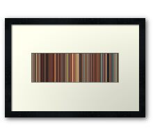 Moviebarcode: Spirited Away (2001) [Simplified Colors] Framed Print