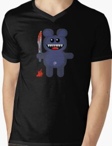 BEAR 2 (Cute pet with a sharp knife!) Mens V-Neck T-Shirt