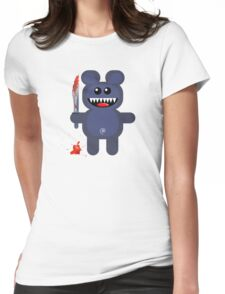 BEAR 2 (Cute pet with a sharp knife!) Womens Fitted T-Shirt