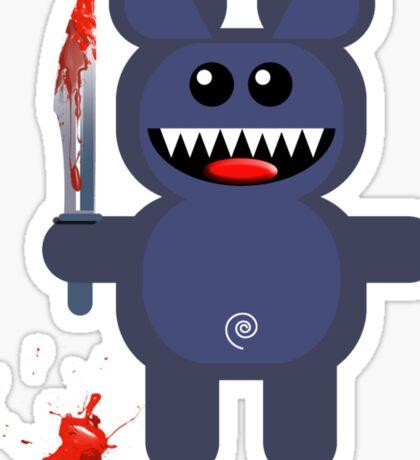 BEAR 2 (Cute pet with a sharp knife!) Sticker