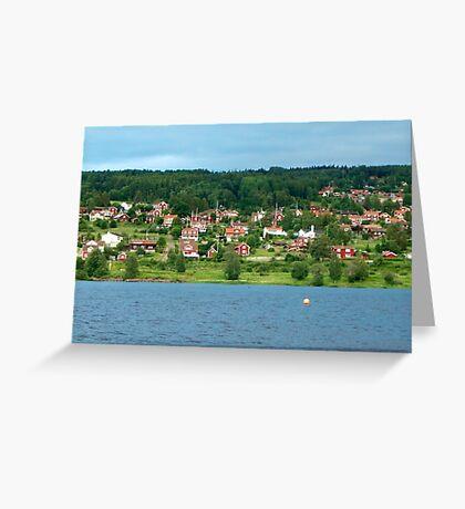 Dalarna Sweden Greeting Card