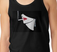 Red Lips, Vintage fashion art, Sophisticated woman Tank Top