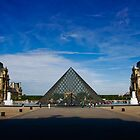 Louvre Triangle, France by Clint Burkinshaw