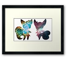 Meowstic (Male and Female) Framed Print