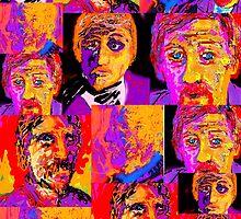 Fauve Portrait Collage by Richard  Tuvey