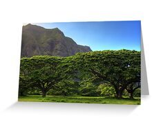 Oahu trees Greeting Card