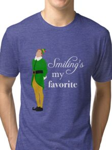 Smiling's My Favorite Tri-blend T-Shirt