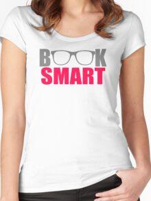 Book Nerd Smart Women's Fitted Scoop T-Shirt