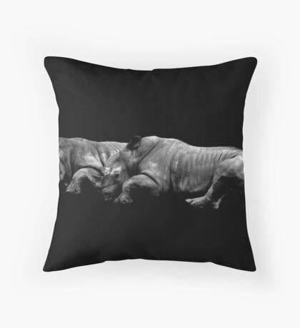 Rhinos Throw Pillow