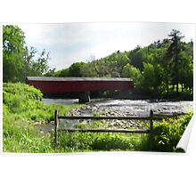 West Cornwall Covered Bridge Poster
