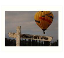 Where Wine and Balloons Meet Art Print