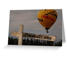 Where Wine and Balloons Meet Greeting Card