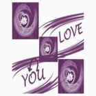 I love you 2- t-shirt by haya1812