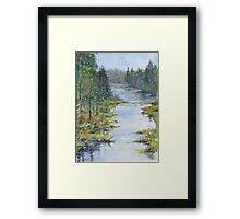 Middle River, South Shore, Nova Scotia Framed Print