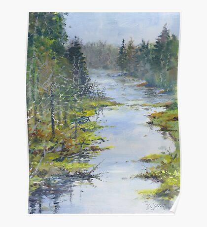 Middle River, South Shore, Nova Scotia Poster