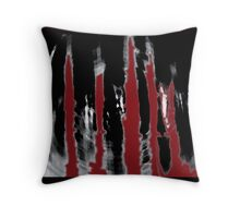 Blood Forrest Throw Pillow