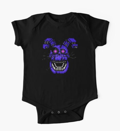 Five Nights at Freddys 4 - Nightmare Bonnie - Pixel art One Piece - Short Sleeve