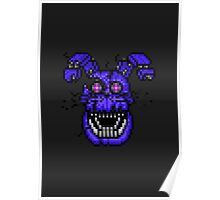 Five Nights at Freddys 4 - Nightmare Bonnie - Pixel art Poster