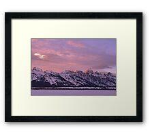 Grand Teton Evening Light Framed Print