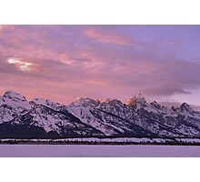 Grand Teton Evening Light Photographic Print