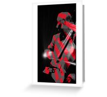 The Cellist Greeting Card