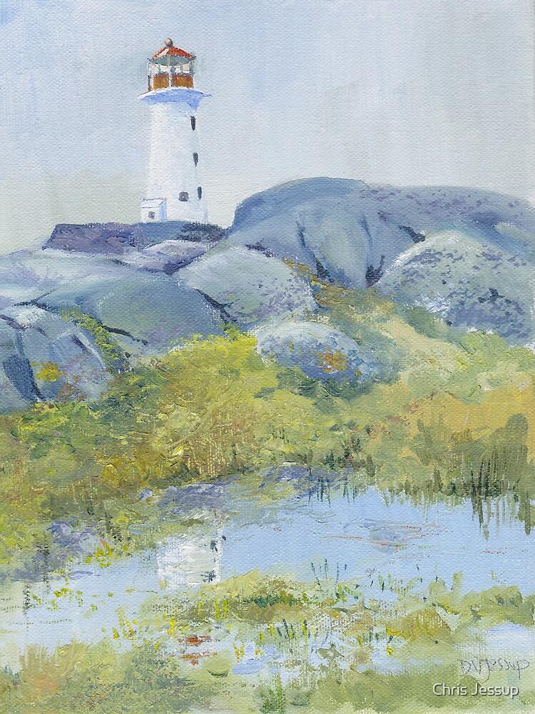 Lighthouse at Peggy's Cove, Nova Scotia by Chris Jessup