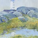 Lighthouse at Peggy&#x27;s Cove, Nova Scotia by Chris Jessup