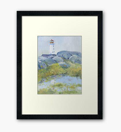 Lighthouse at Peggy's Cove, Nova Scotia Framed Print