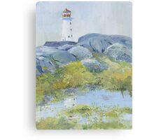 Lighthouse at Peggy's Cove, Nova Scotia Canvas Print