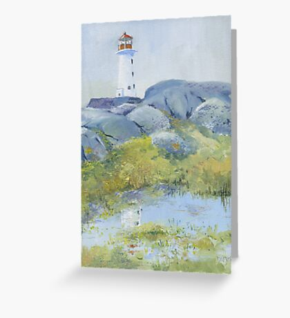 Lighthouse at Peggy's Cove, Nova Scotia Greeting Card