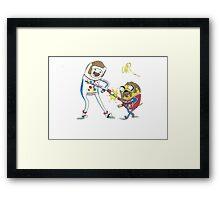 Jake and Finn shake and bake by WRTISTIK Framed Print