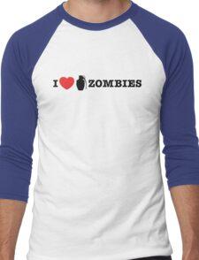 I <3 Zombies Men's Baseball ¾ T-Shirt