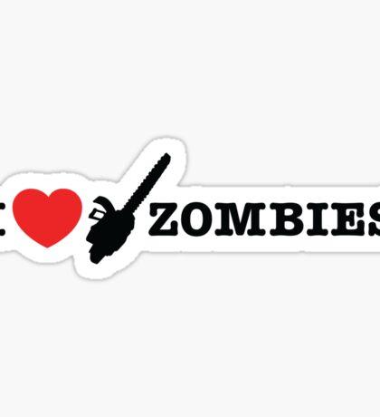 I <3 Zombies Sticker