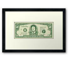 50 Dollar Bill - The Goonies Framed Print