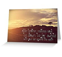 take the time.  Greeting Card