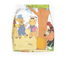 Three Little Pigs & The Big Bad Wolf Mini Skirt