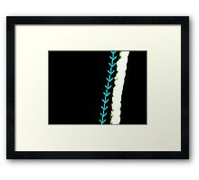 Blue Arrows Framed Print