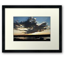 Blue Sky Cloudscape - Burnham Overy Staithe, Norfolk, UK Framed Print