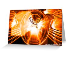 Planets Collide Greeting Card
