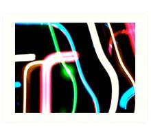 Neon Lines Art Print