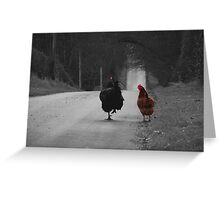 Are we being followed? Greeting Card