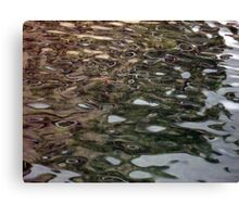 Patterns in the River Dart at Kingswear Ferry Dock Canvas Print