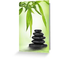 Zen stones and bamboo Greeting Card