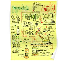 Visual Recipe - Ponche de Creme Poster