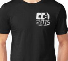 CC:\ 2015 - White Chest Print Unisex T-Shirt