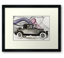 1926 Buick Sports Coupe Framed Print