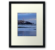 Cape Forchu Lighthouse in a Blue Mood 2 Framed Print