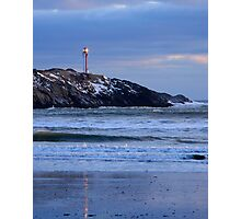 Cape Forchu Lighthouse in a Blue Mood 2 Photographic Print