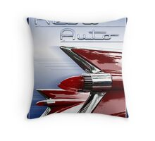 Retro Auto Throw Pillow