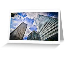 Canary Wharf And It's Competiton Greeting Card